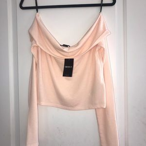 NWT Light Pink Off-the-Shoulder Shirt